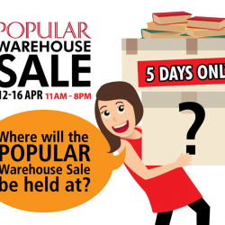 [POPULAR Bookstore] YES, the POPULAR Warehouse sale will be at 15 Serangoon North Ave 5!