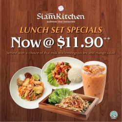 [Siam Kitchen] Set lunches are specially made just for you!
