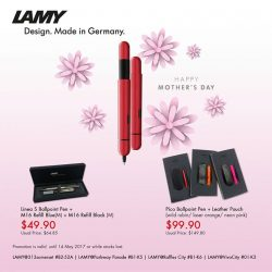 [LAMY Singapore] Get your mom a pocket size Lamy pico ballpoint pen that comes with a leather pouch this mother's day.