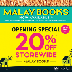 [POPULAR Bookstore] We are excited to announce that more POPULAR stores will be offering Malay Book Titles!