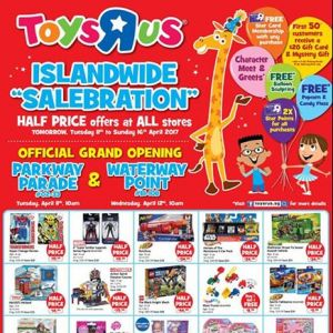 "[Babies'R'Us] Last day of our islandwide ""salebration""!"