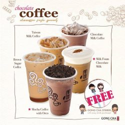 [Gong Cha Singapore] You shouldn't miss our exclusive flavour, Mocha Coffee with Oreo, at Changi City Point, Singapore Chocoffee Fiesta happening now