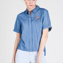 """[MOSS] Shop """" Karole Tops in Denim Blue """" for the beautiful Sunday@http://www."""