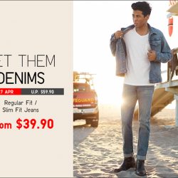 [Uniqlo Singapore] Now on Limited Offer till 27 April, get men's selected jeans at up to $20 off!