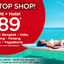 AirAsia: Flight + Hotel from SGD89 to Bandung, Bangkok, Cebu, Kuching, Penang, Phuket & More!