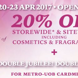 Metro: 20% OFF Storewide Including Cosmetics & Fragrances + Up to 12% Metro$ Rebate with Metro-UOB Card