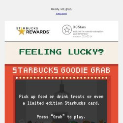 [Starbucks] Win daily treats with Starbucks Goodie Grab