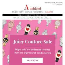 [Ashford] Juicy Couture On Sale Now