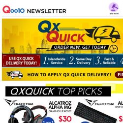 [Qoo10] [ QX Quick Special ] Order Now & Receive Package Today! [ SK-II | GOPRO 5 | SONG HE Rice ]  All Your Necessities in one place!
