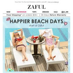 [Zaful] Beach ALERT: 10% Off Summer Shop ☀