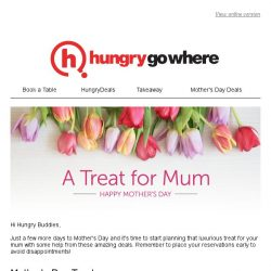 [HungryGoWhere] Treat Mum to a scrumptious meal this Mother's Day with these amazing deals!