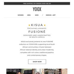 [Yoox] YOOXYGEN: Kisua launches the new collection, made in South Africa