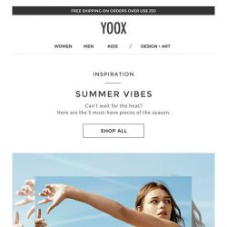 [Yoox] Inspiration: SUMMER VIBES, key clothing and accessories for the coming season