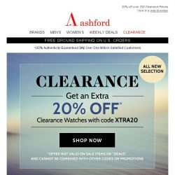 [Ashford] Clearance Sale + Great Mother's Day Deals