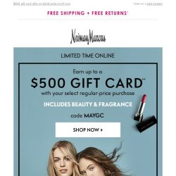 [Neiman Marcus] Shop these picks, earn a gift card!