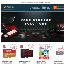 [Lazada] Find Your Memory Storage Solutions Here!
