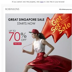 [Robinsons]  The Sale worth waiting for is here! Shop now