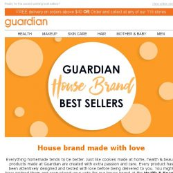 [Guardian] When in doubt, go for a name you can trust – Guardian house brand products.