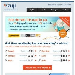 [Zuji] Unbelievable deals: Fly to Tokyo from $431 (return)!