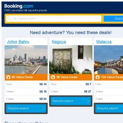 [Booking.com] Johor Bahru and Nagoya – great last-minute deals from S$ 6