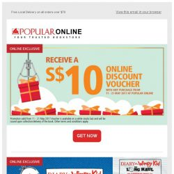 [Popular] Exclusive Movies' Collectibles and Tickets with Free $10 Online Voucher