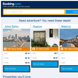 [Booking.com] Johor Bahru and Nagoya – great last-minute deals from S$ 7