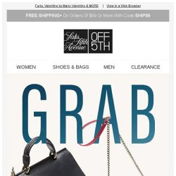[Saks OFF 5th] 2 days left: up to 60% OFF Furla bags + MORE!