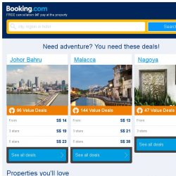 [Booking.com] Johor Bahru and Malacca – great last-minute deals from S$ 7