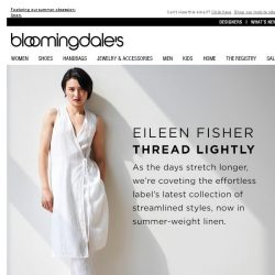 [Bloomingdales] In with the New: Eileen Fisher
