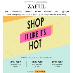 [Zaful] One Day To Save! 12% OFF Your Order!