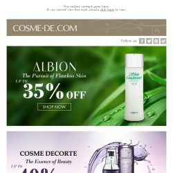[COSME-DE.com] Selected Skincare Products Special Offers!