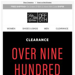 [Saks OFF 5th] Want up to 75% OFF NEW markdowns?