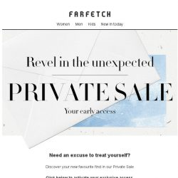[Farfetch] In case you missed it, shop our Private Sale
