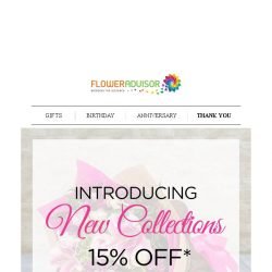 [Floweradvisor] Fresh Things First, Brand New Collections