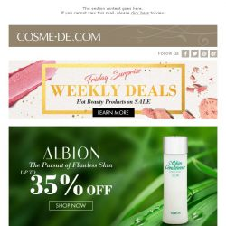 [COSME-DE.com] Weekly Deals + Selected Brand Special Offer! Last Chance!