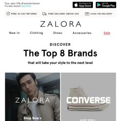 [Zalora] These are the 8 brands you need right now