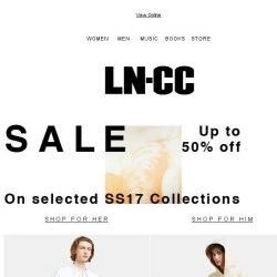 [LN-CC] SUMMER Sale: up to 50% off: Sunnei / Marc Jacobs / Ellery / Adidas by kolor / E.Tautz