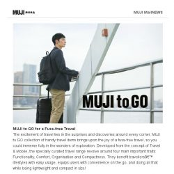 [Muji] MUJI to GO – A Collection of Handy Travel Essentials