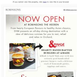 [Robinsons]  Now Open New Dining Options at Robinsons The Heeren