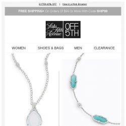 [Saks OFF 5th] TODAY ONLY: EXTRA 40% OFF Bavna, IPPOLITA & More