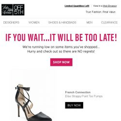 [Saks OFF 5th] Grab your French Connection item before it's GONE...