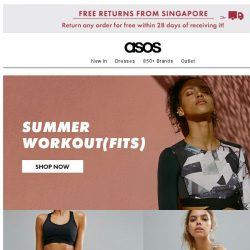 [ASOS] Brighter days = lighter activewear