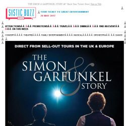 [SISTIC] THE SIMON & GARFUNKEL STORY – Book Your Tickets Now