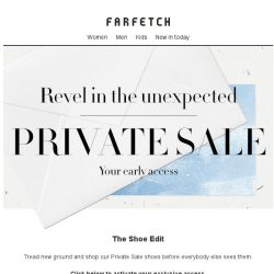 [Farfetch] Private Sale | Your perfect pair