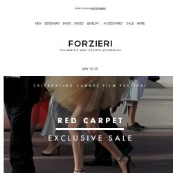 [Forzieri] VIP 30% Off with Cannes Red Carpet Event
