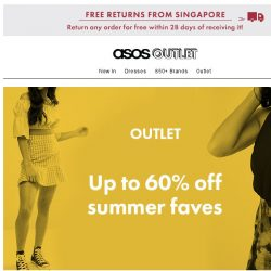 [ASOS] Pack up to 60% off your holiday