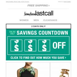 [Last Call] Click to save on your favorites!