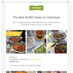 [CaterSpot] The 7 Best Deals for Buffet Catering