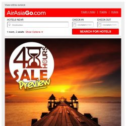 [AirAsiaGo] ⌚ 48Hours Incredible Hotel Deals just for you | Don't miss out!! ⌚