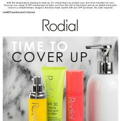 [RODIAL] Have You Worn Your SPF Today? | Complimentary Lip Mask Gift